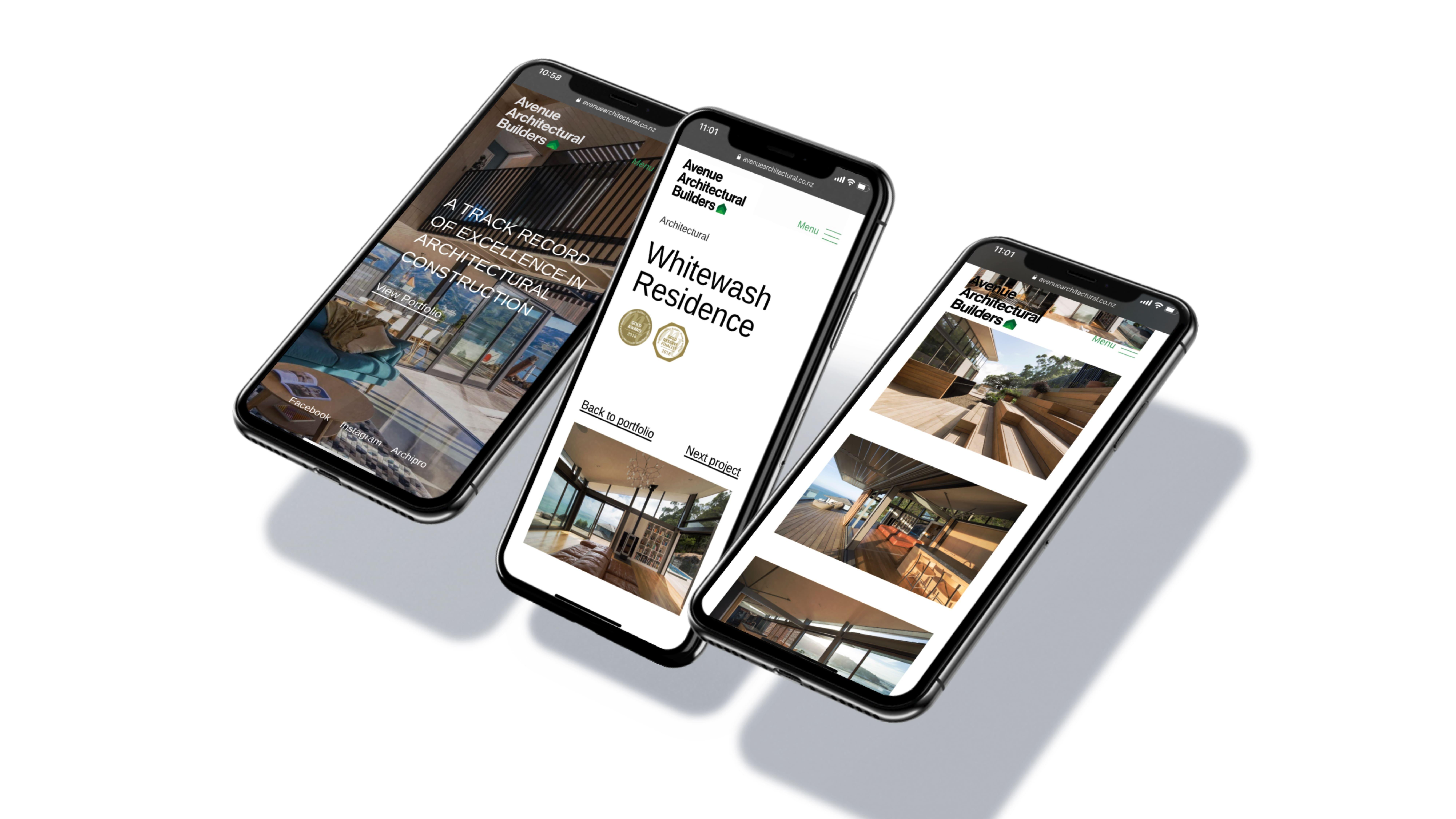 attraction studio avenue architectural brand web mobile multi view