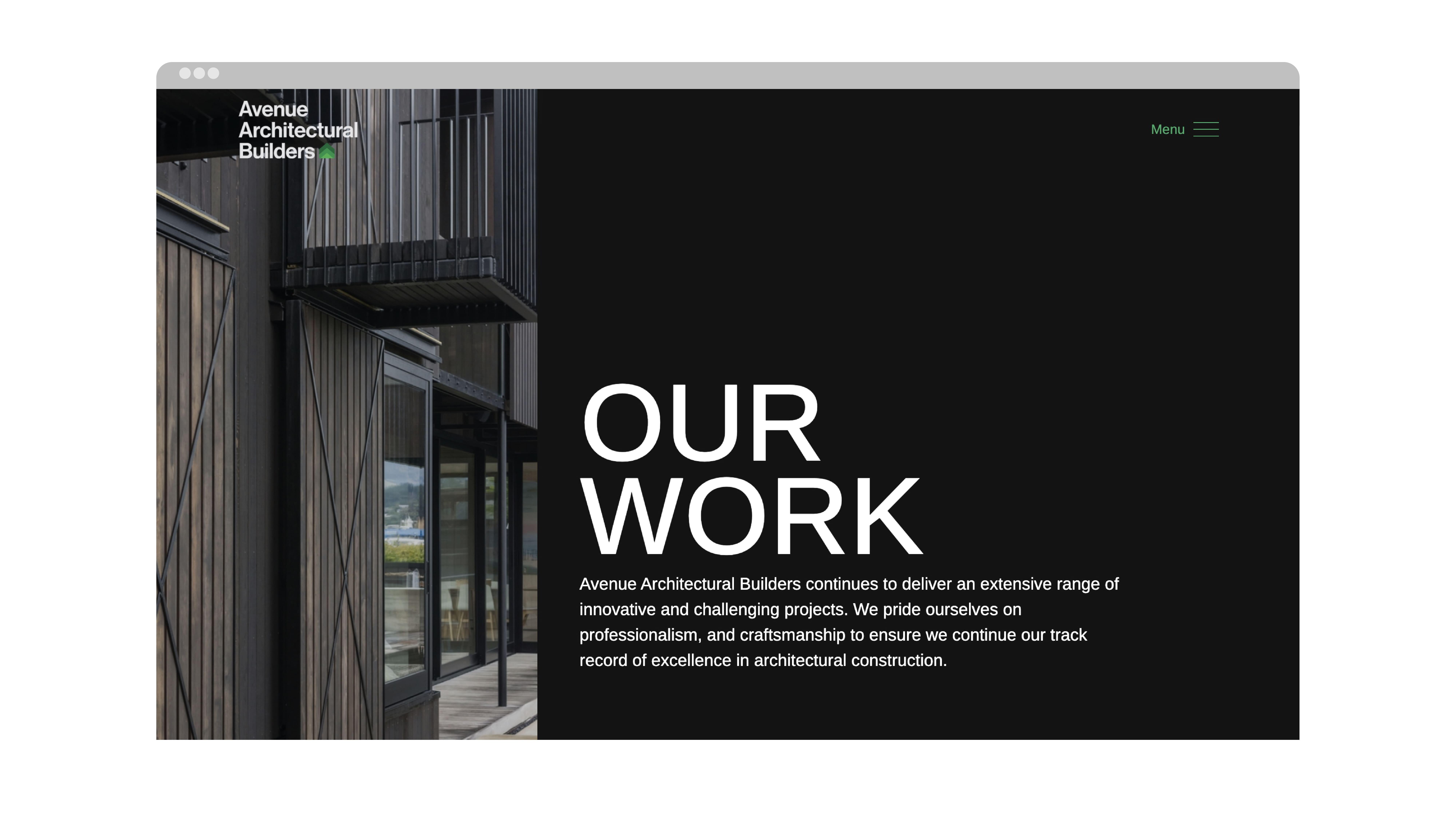 attraction studio avenue architectural brand web website projects