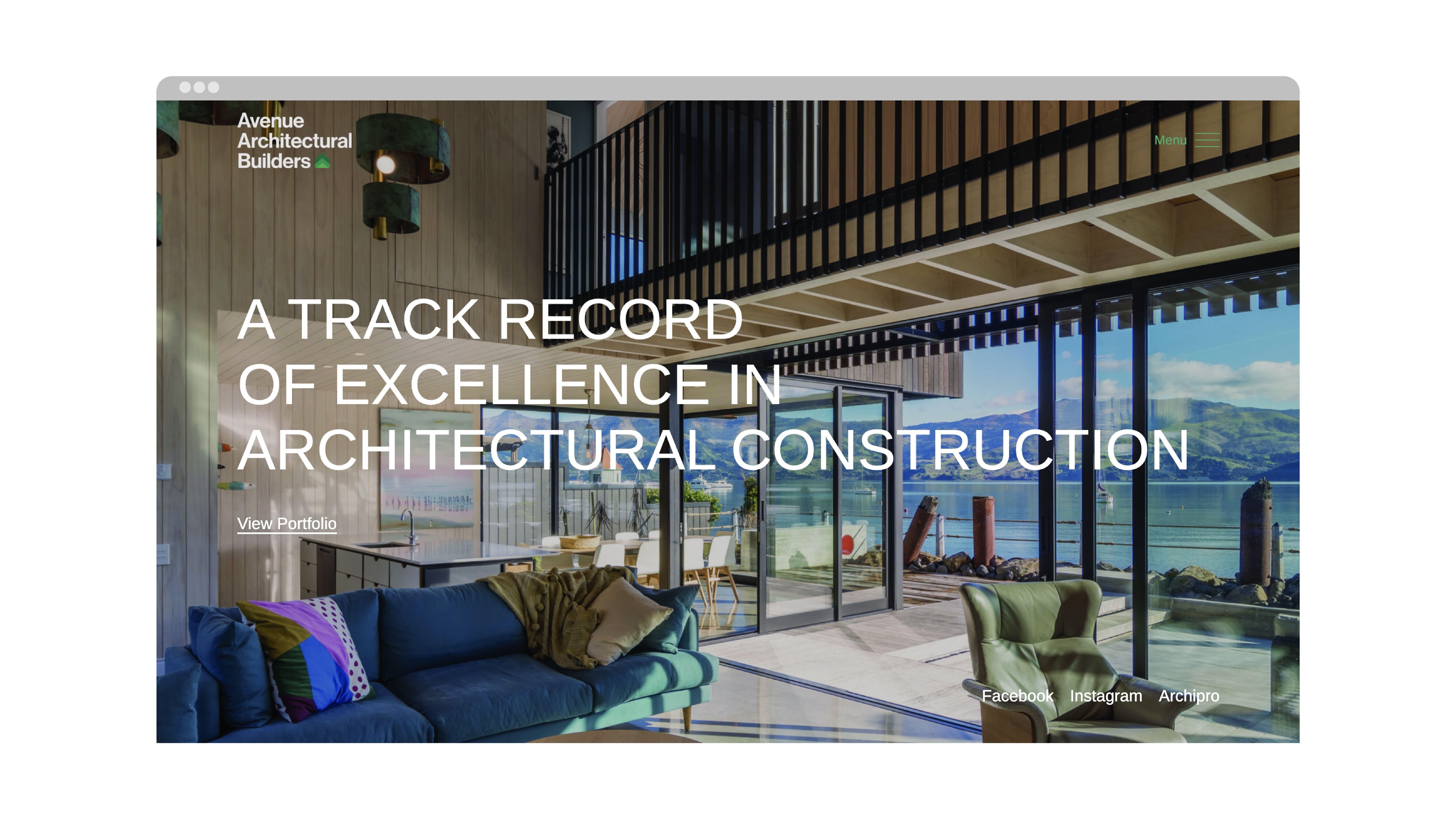 attraction studio avenue architectural brand web website landing