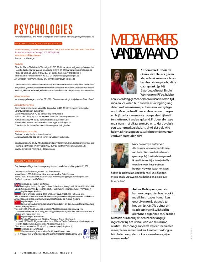 Annemieke & Genevieve medewerkers van de maand in Psychologies Magazine