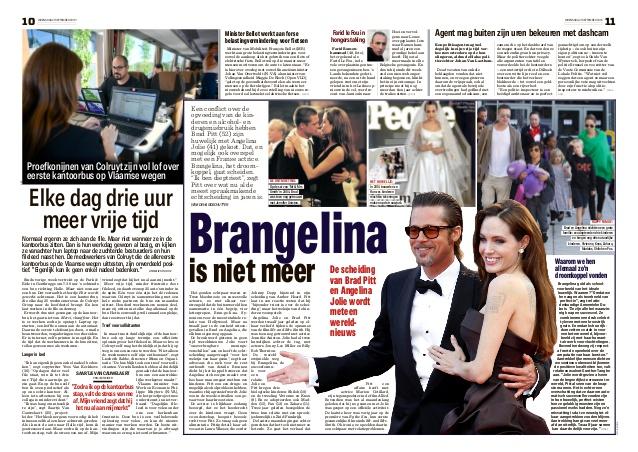 Brangelina is niet meer. Het Nieuwsblad vraagt ons om duiding.