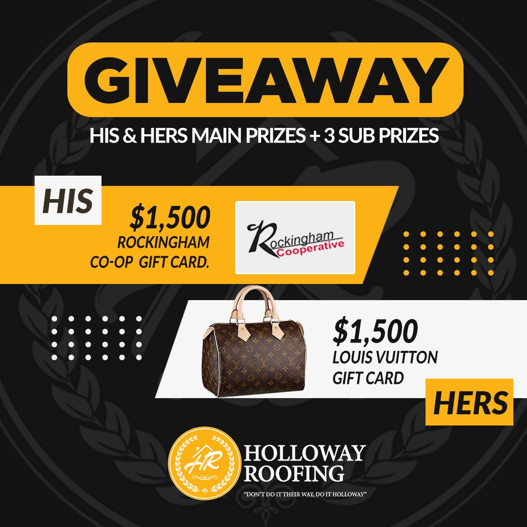 Holloway Roofing Giveaway