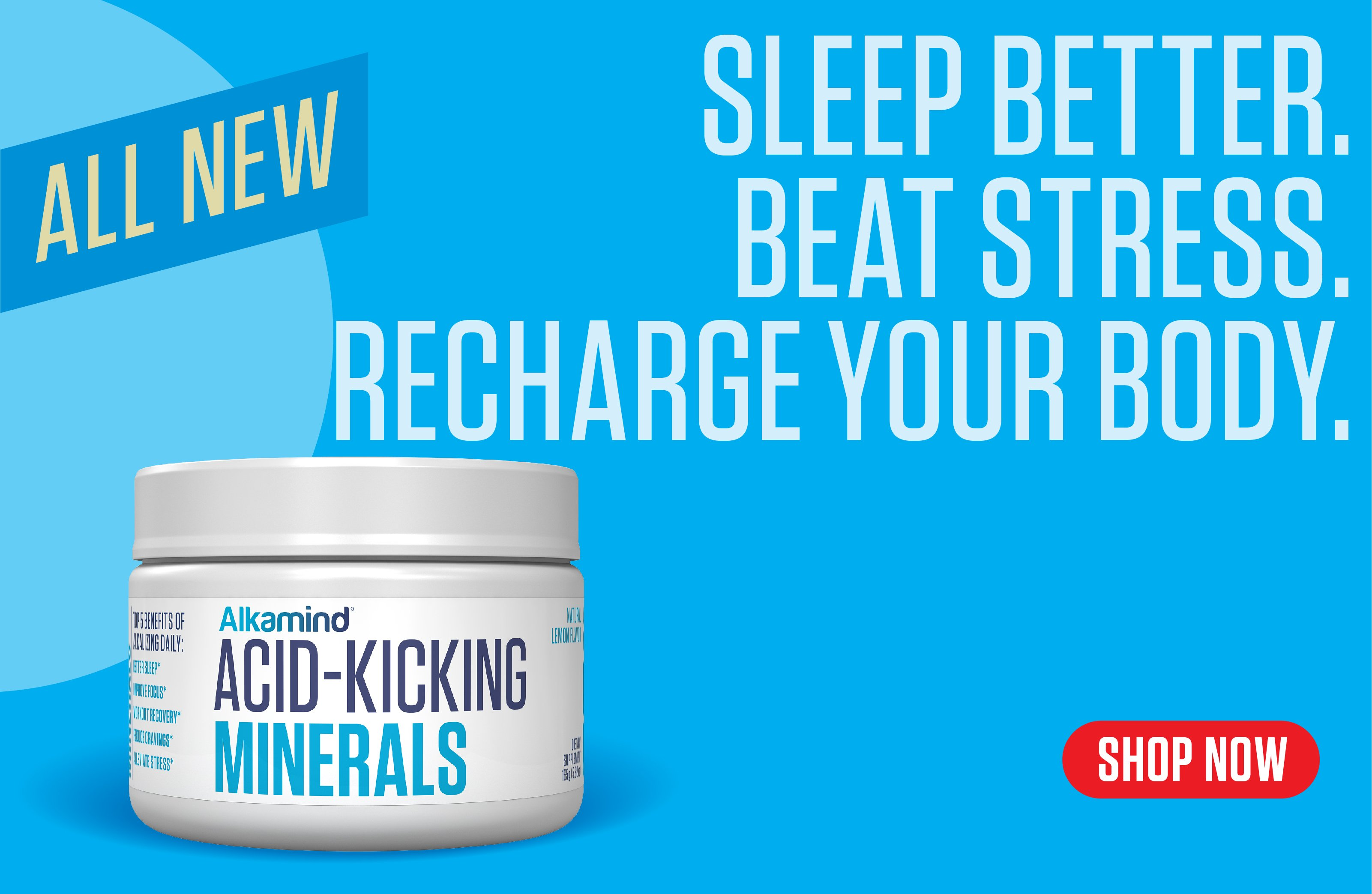 sleep better, beat stress, recharge your body