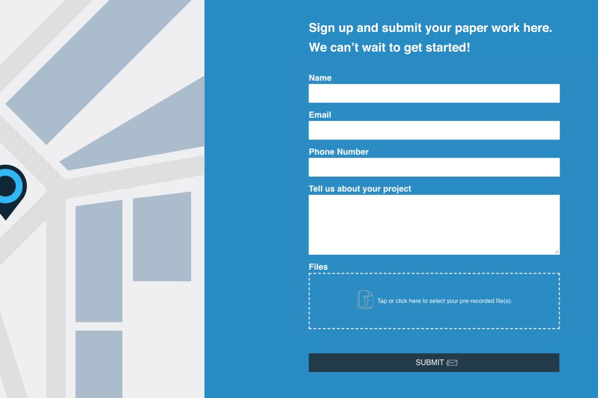 An EZ File Drop Upload Form embedded on a website.