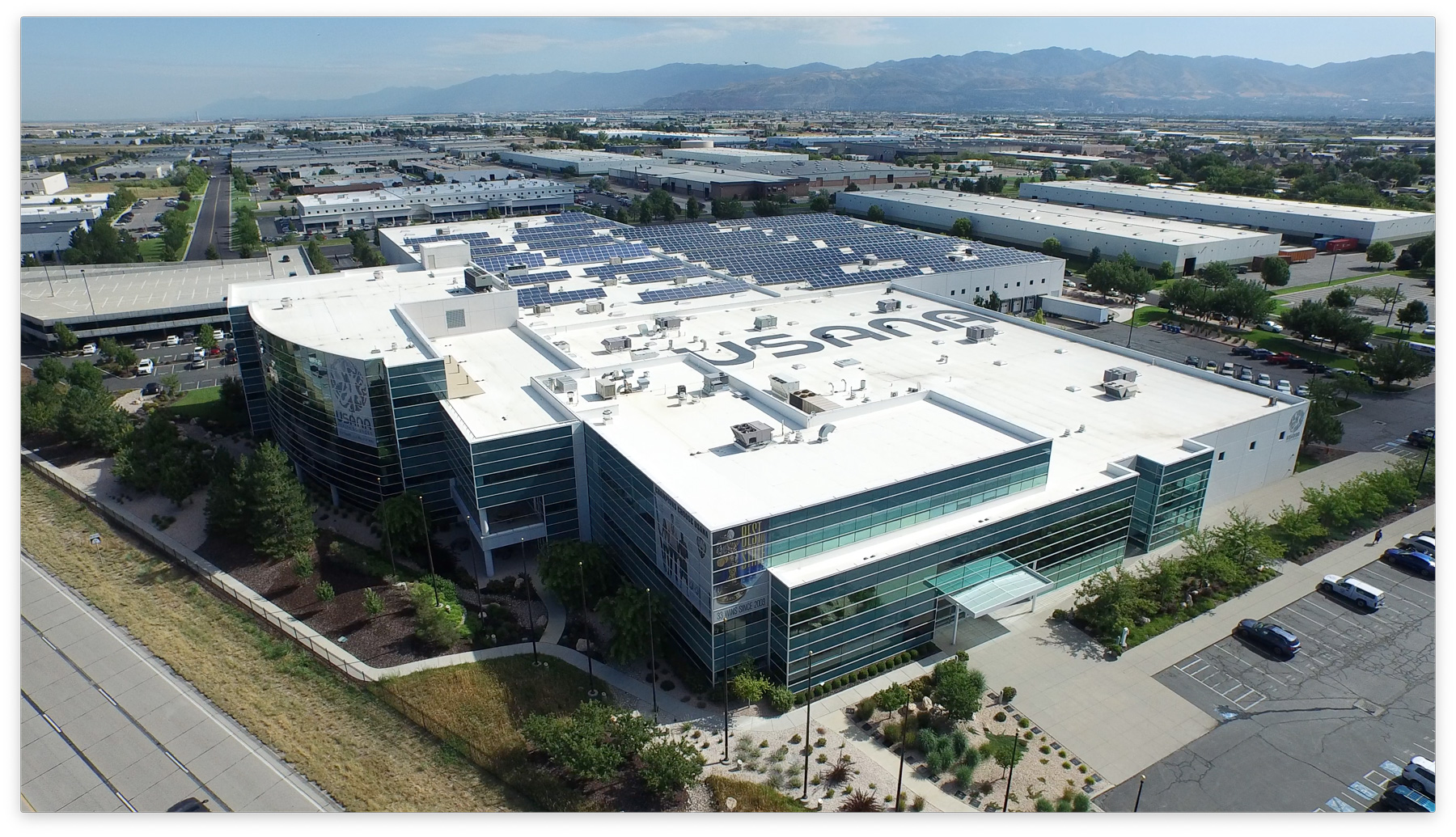 Photo of USANA Health Sciences headquarters in Salt Lake City, Utah