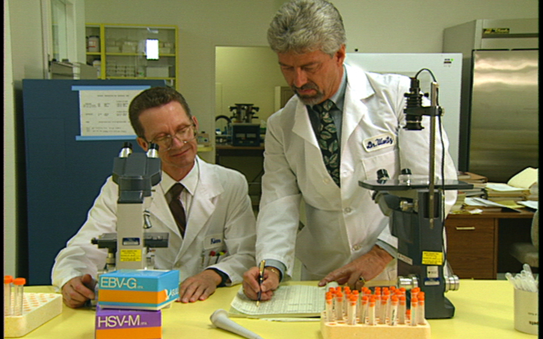 Dr. Wentz working in his Lab