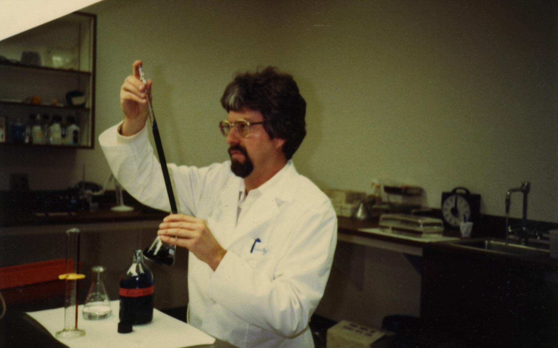 Dr. Wentz at his lab in Gull Laboratories