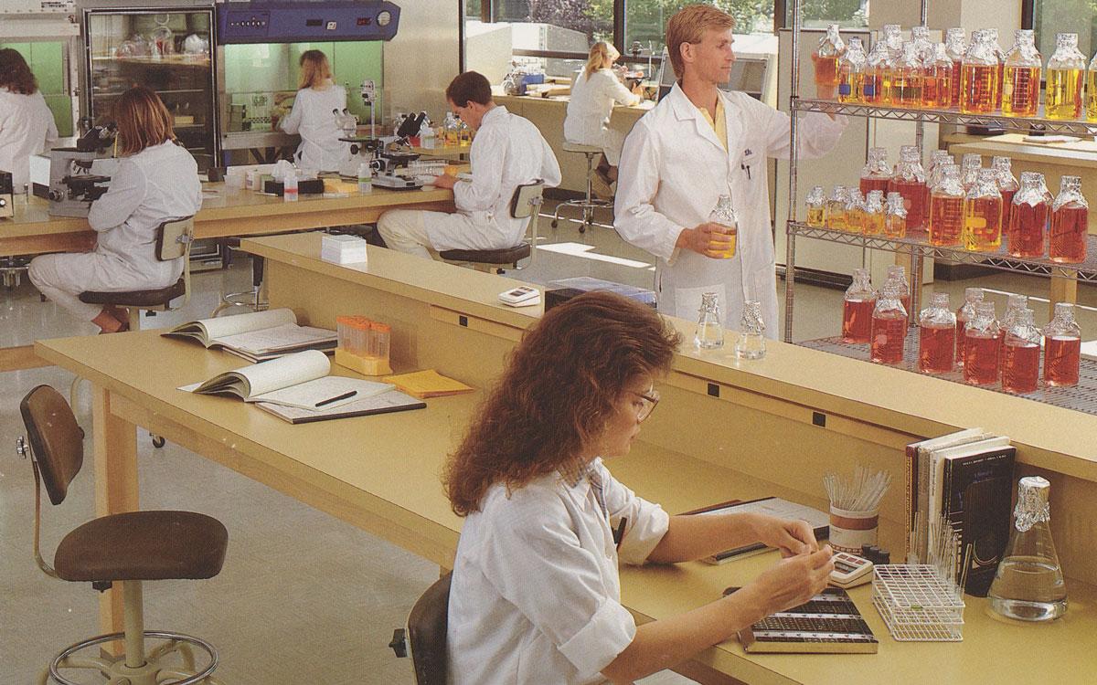 Scientists working at Gull Laboratories