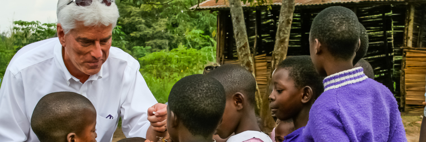 Photo of Dr. Wentz at a humanitarian mission in Africa