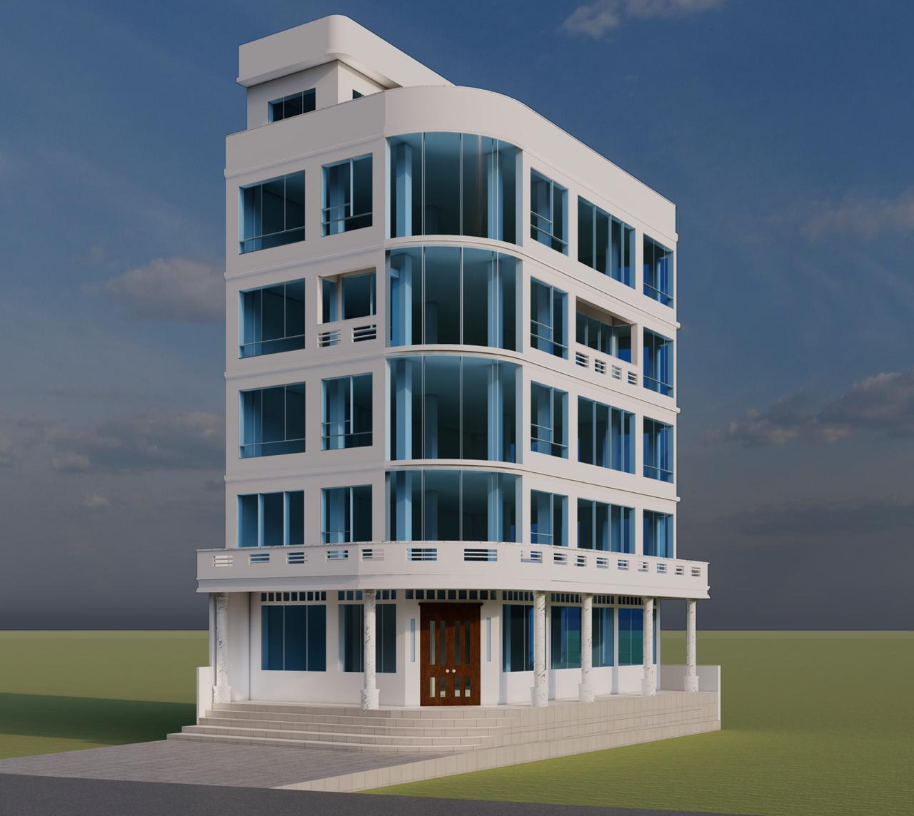 A digital rendering of the Medical Clinic and Mercy Center in Nepal