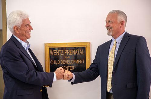 Dr. Wentz at the Wentz Prenatal and Child Development Center dedication