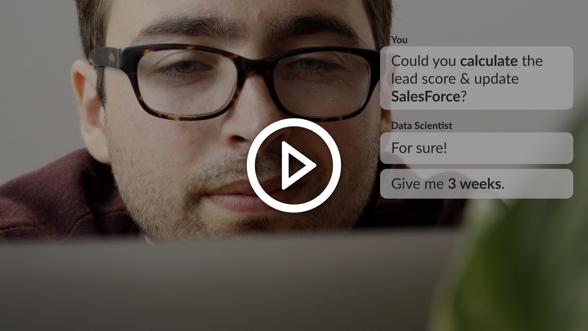 Video describing what Intersect is - Collaborative data workspace for business teams