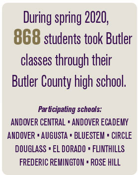 During spring 2020, 868 students took Butler classes through their Butler County high school.