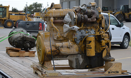 A diesel engine on a truck
