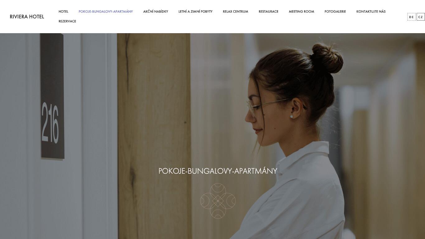 Tvorba vícejazyčných webových stránek pro hotel Riviera