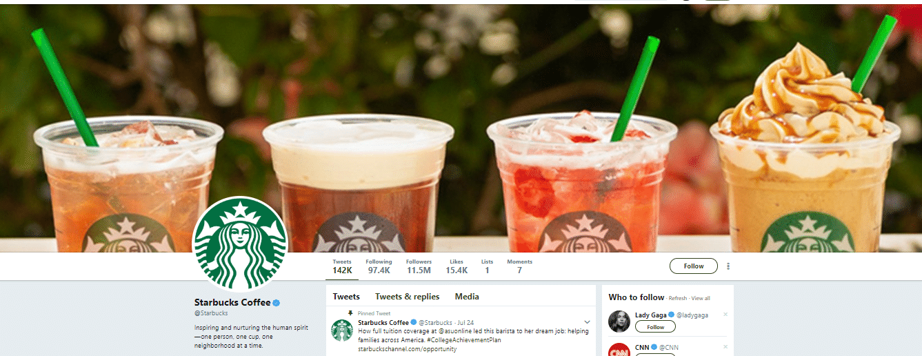 A range of Starbucks products ready to be consumed.
