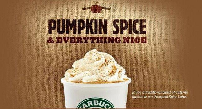 Pumpkin spice promotion.