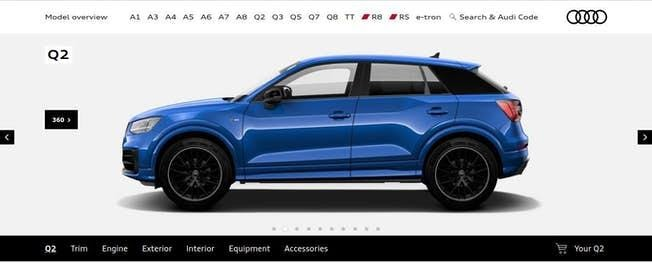Example of Audi's programmatic advertisement