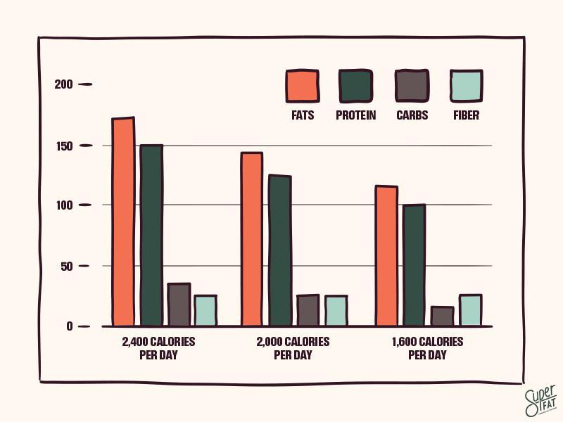 Grams Per Macro Per Day Including Fiber