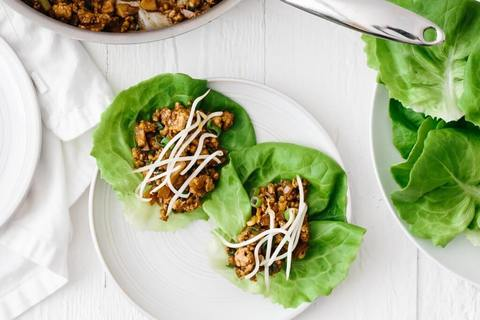 Keto Meal - Asian Chicken Lettuce Wrap