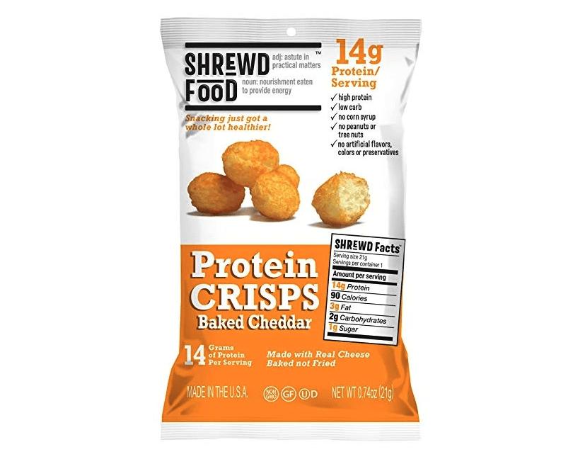 Shrewd Food Baked Cheddar Protein Crisps