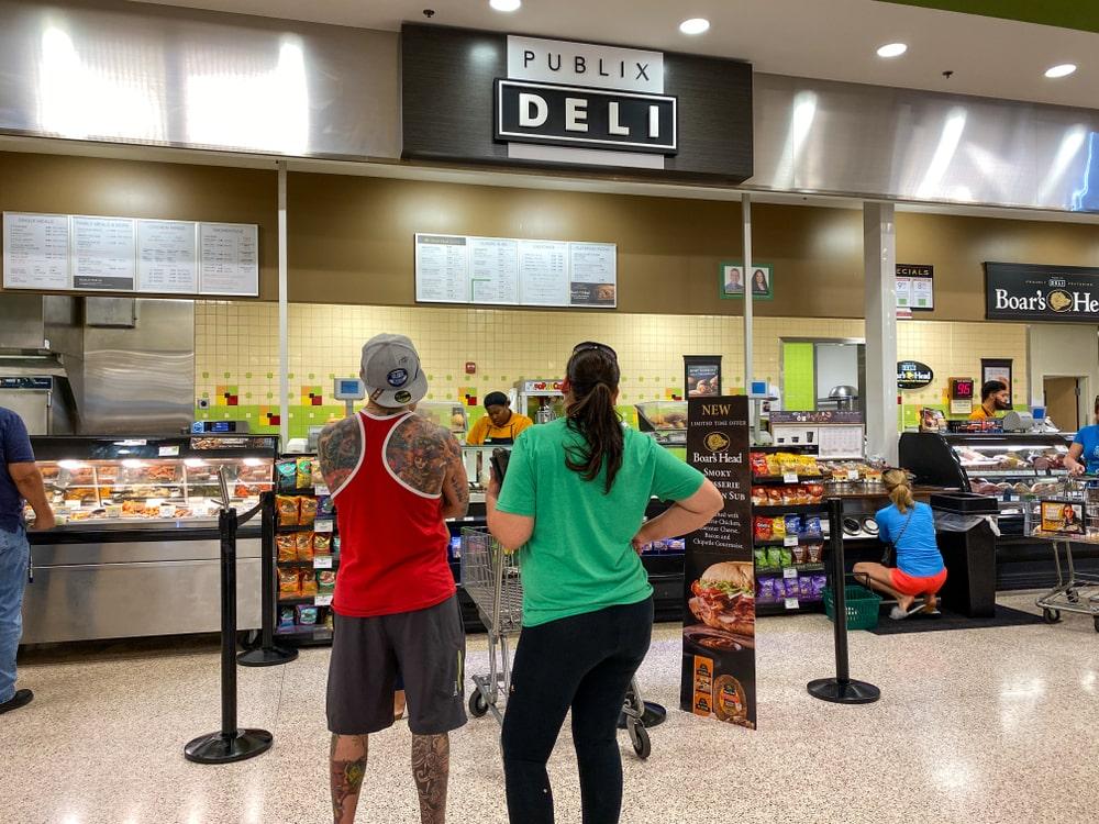 People at Publix Deli Counter