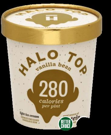 Vanilla Bean Halo Top Ice Cream from Publix