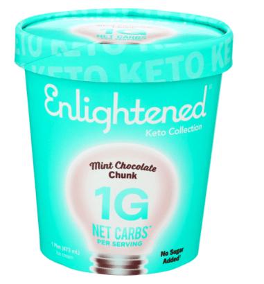Enlighten Mint Chocolate Chip Ice Cream from Publix