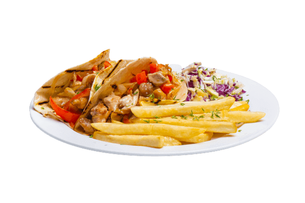 Healthy kids kitchen - kids fries and salad
