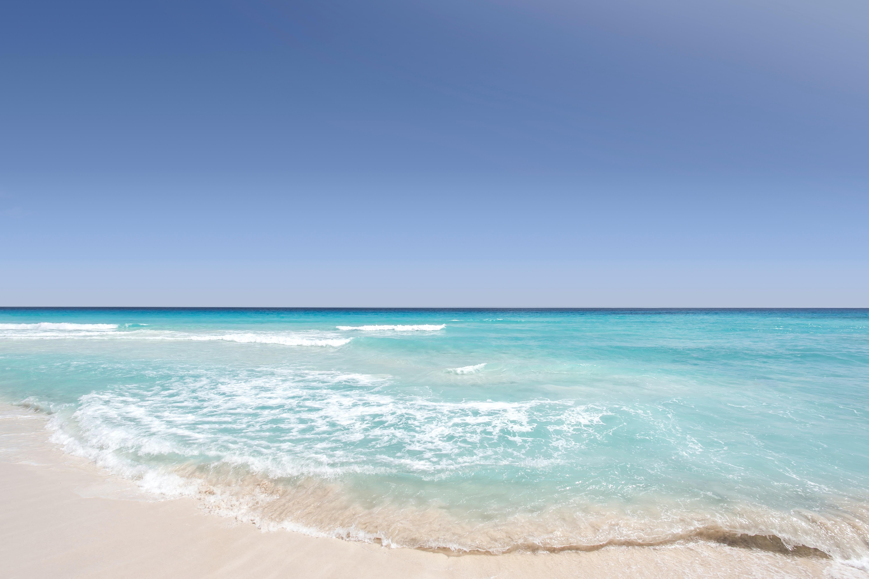 Beautiful sandy beach and blue sky