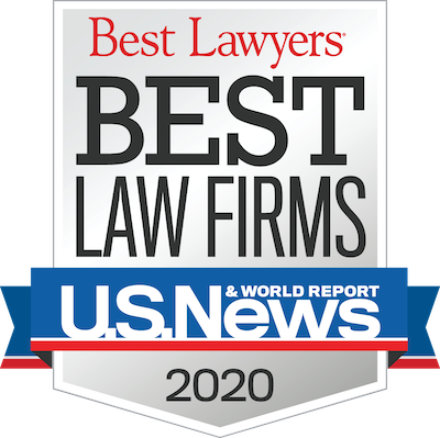 Best Law Firms U.S. News & World Report 2020 Award