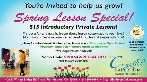 brochure for spring lesson special - discounted $15 introductory lesson with $5 from each lesson scheduled going to the Byron Saunders Foundation - May and June only!