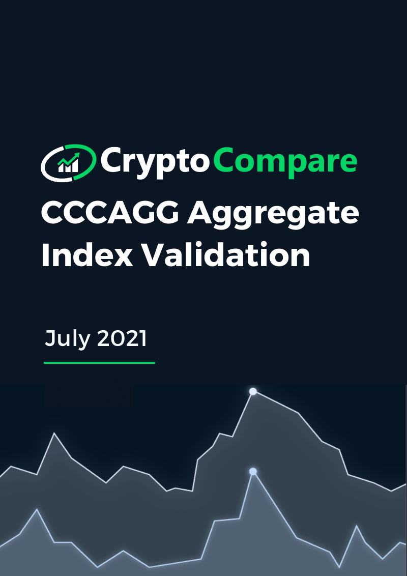CCCAGG Aggregate Index Validation - July 2021