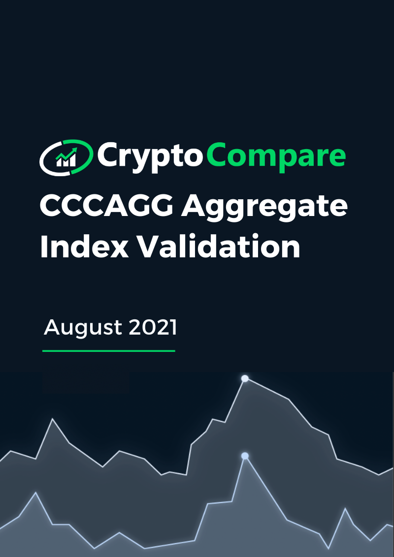 CCCAGG Aggregate Index Validation - August 2021