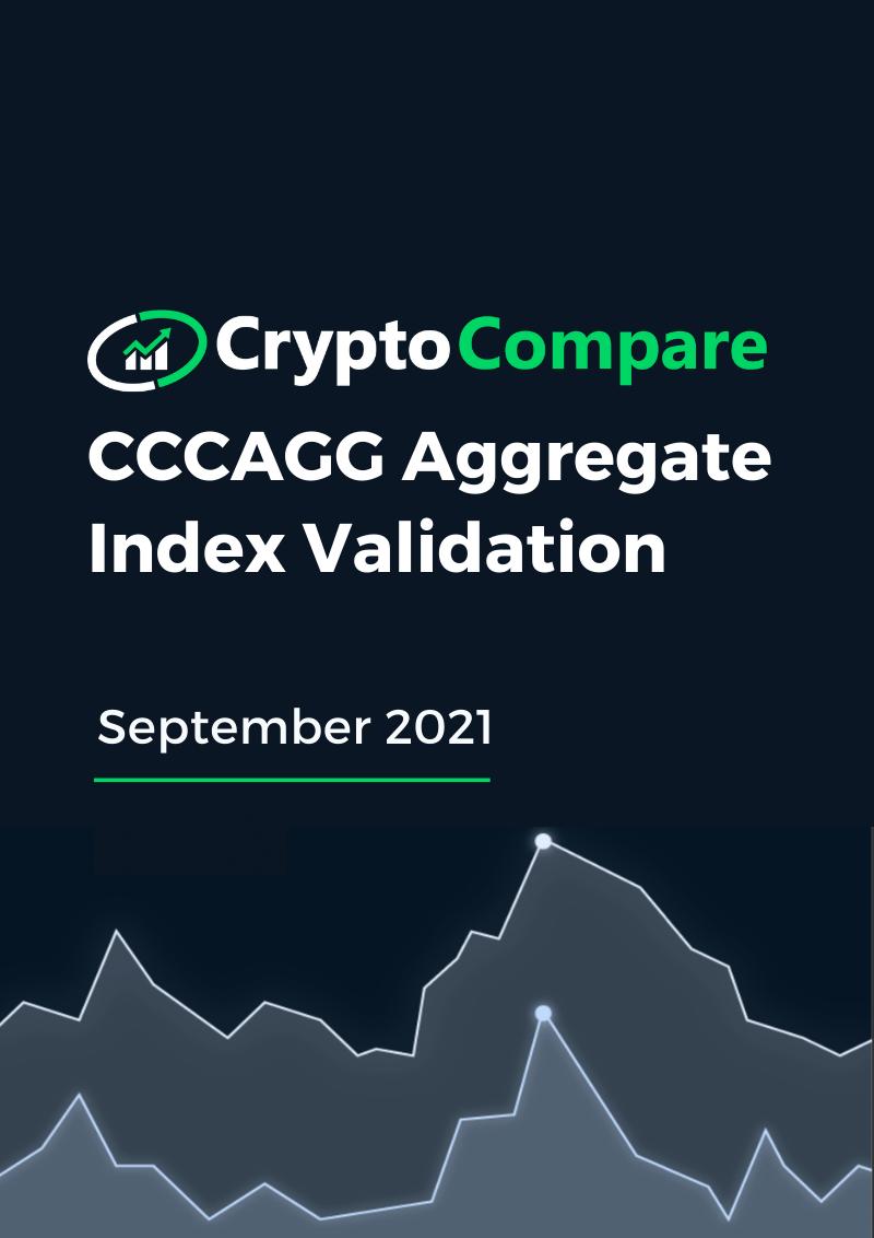 CCCAGG Aggregate Index Validation - September 2021