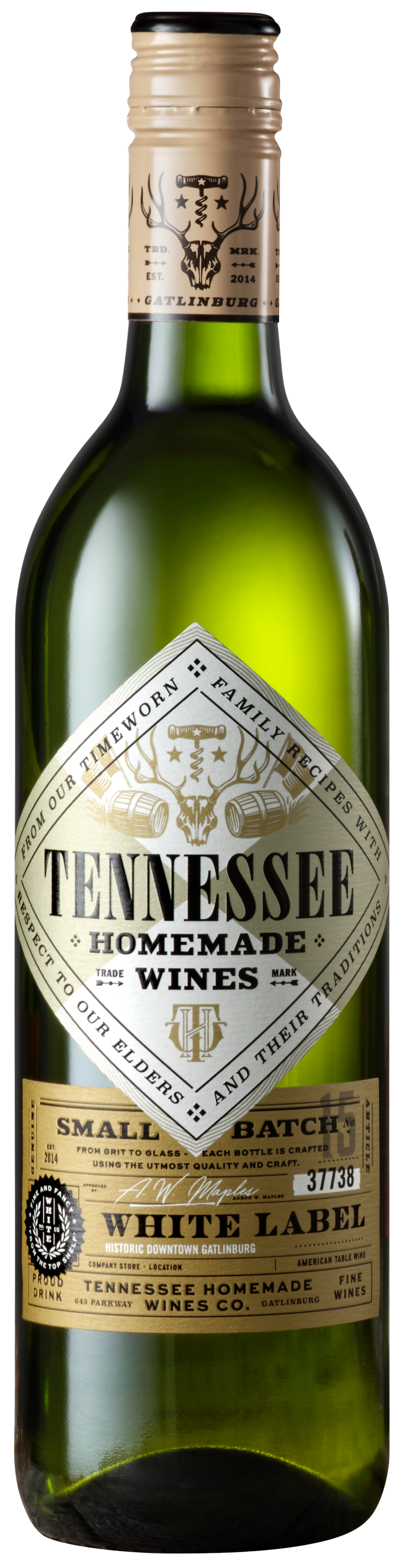 Tennessee Homemade Wines white label wine