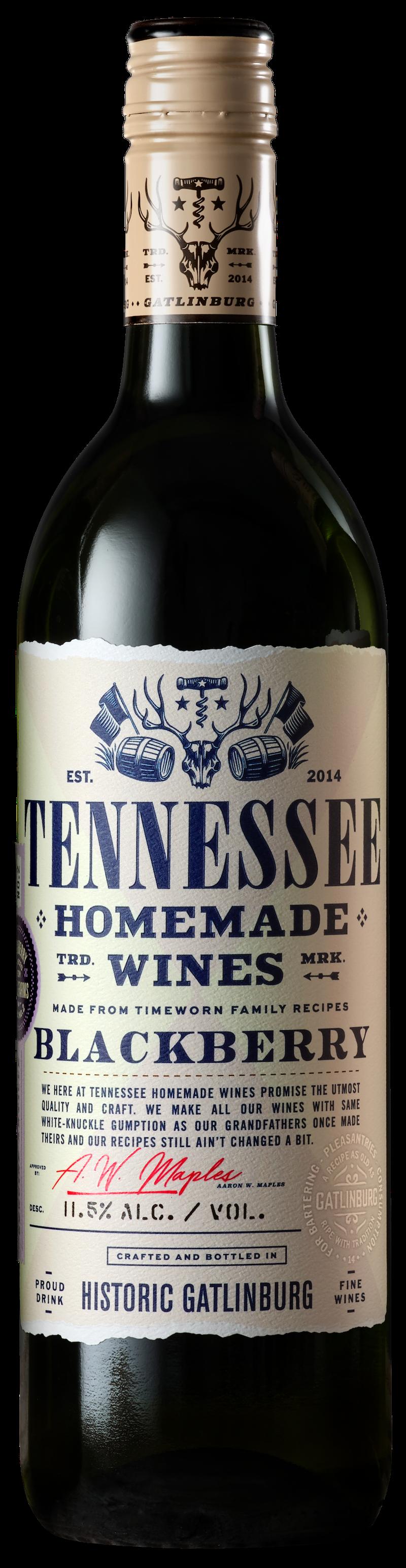 Tennessee Homemade Wines blackberry wine