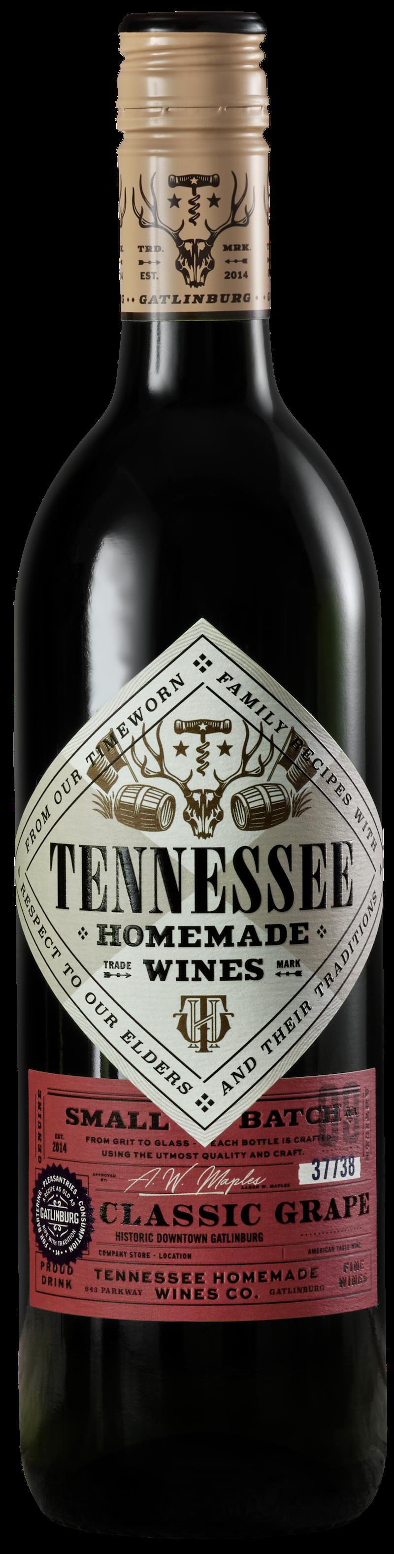 Tennessee Homemade Wines classic grape wine