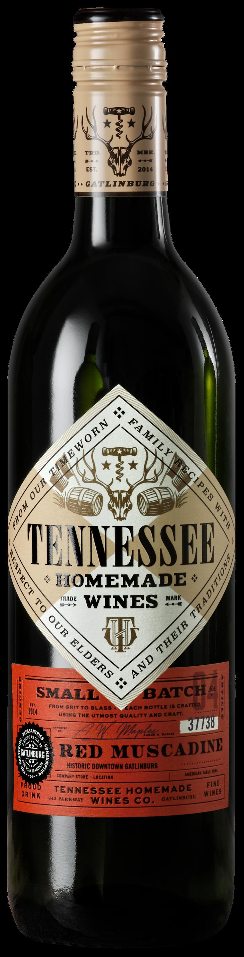 Tennessee Homemade Wines red muscadine wine
