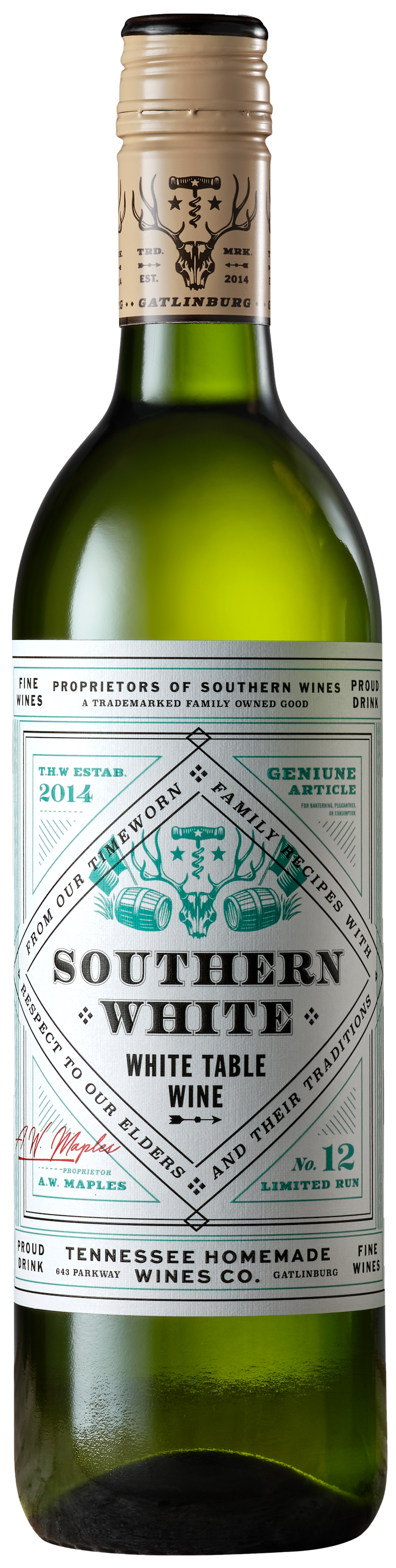 Tennessee Homemade Wines Southern White Wine