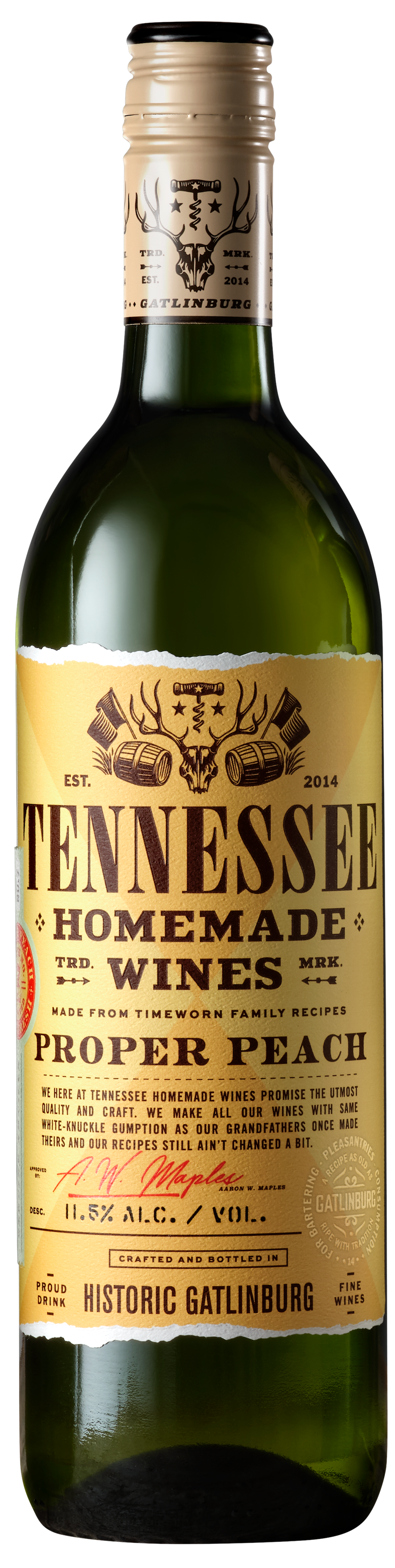 Tennessee Homemade Wines Proper Peach Wine