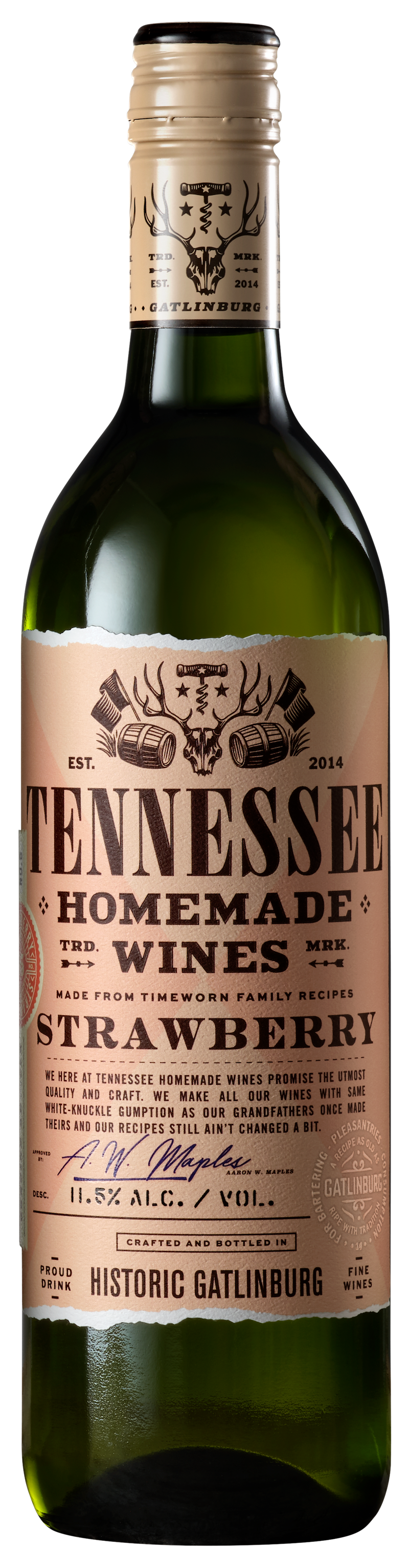 Tennessee Homemade Wines Strawberry Wine