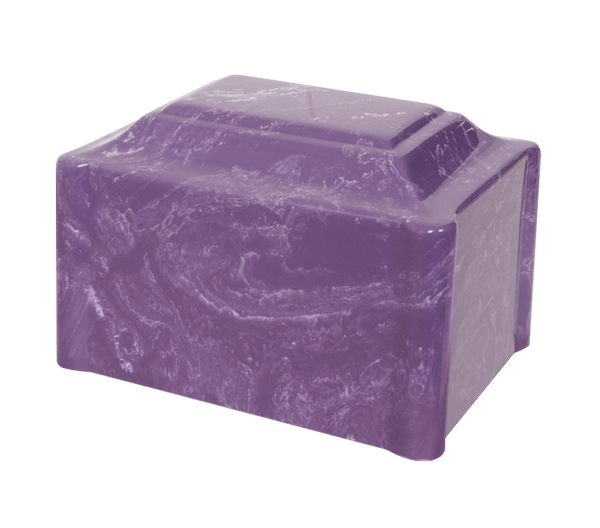 Single Urn in Imperial Purple with soft white veins