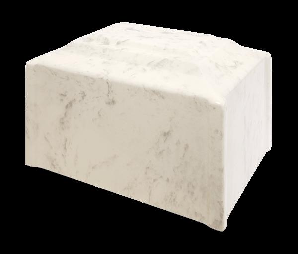 Diamond Corner Single Urn in Diamond - white with beige veins