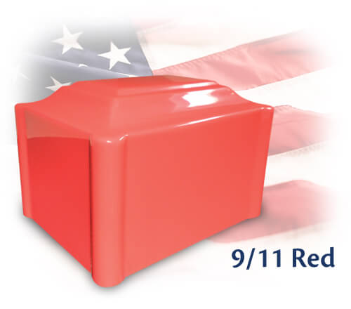 9-11 Red, Custom Color Single Urn in bright red