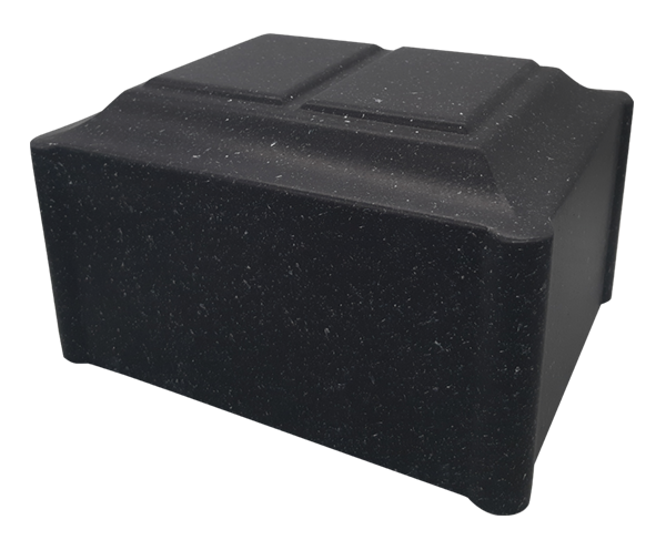 Companion size. Black urn with speckles. Matte finish.