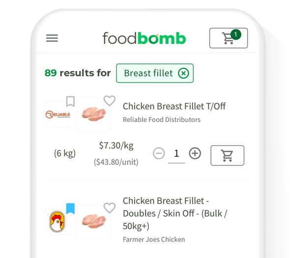 Platform Image of Foodbomb comparison tool