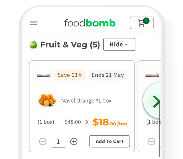 Platform Image of Foodbomb specials page