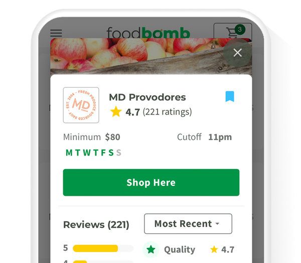 Platform Image of Foodbomb supplier reviews