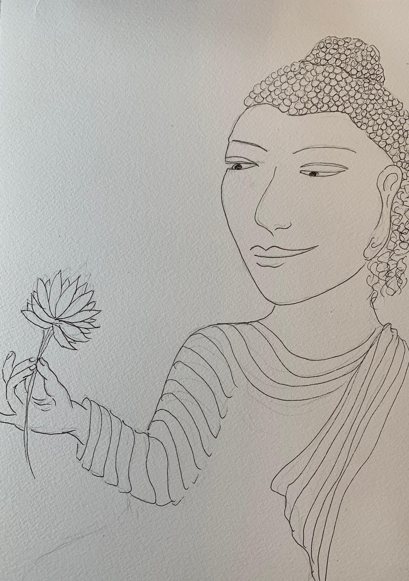 Indu Varma- Serenity drawing
